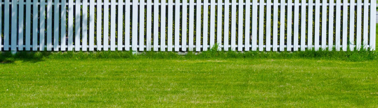 Metric Fencing White Home Fence