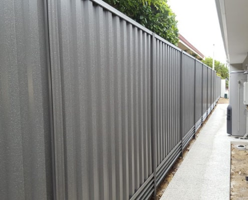Colorbond Fencing Side of house