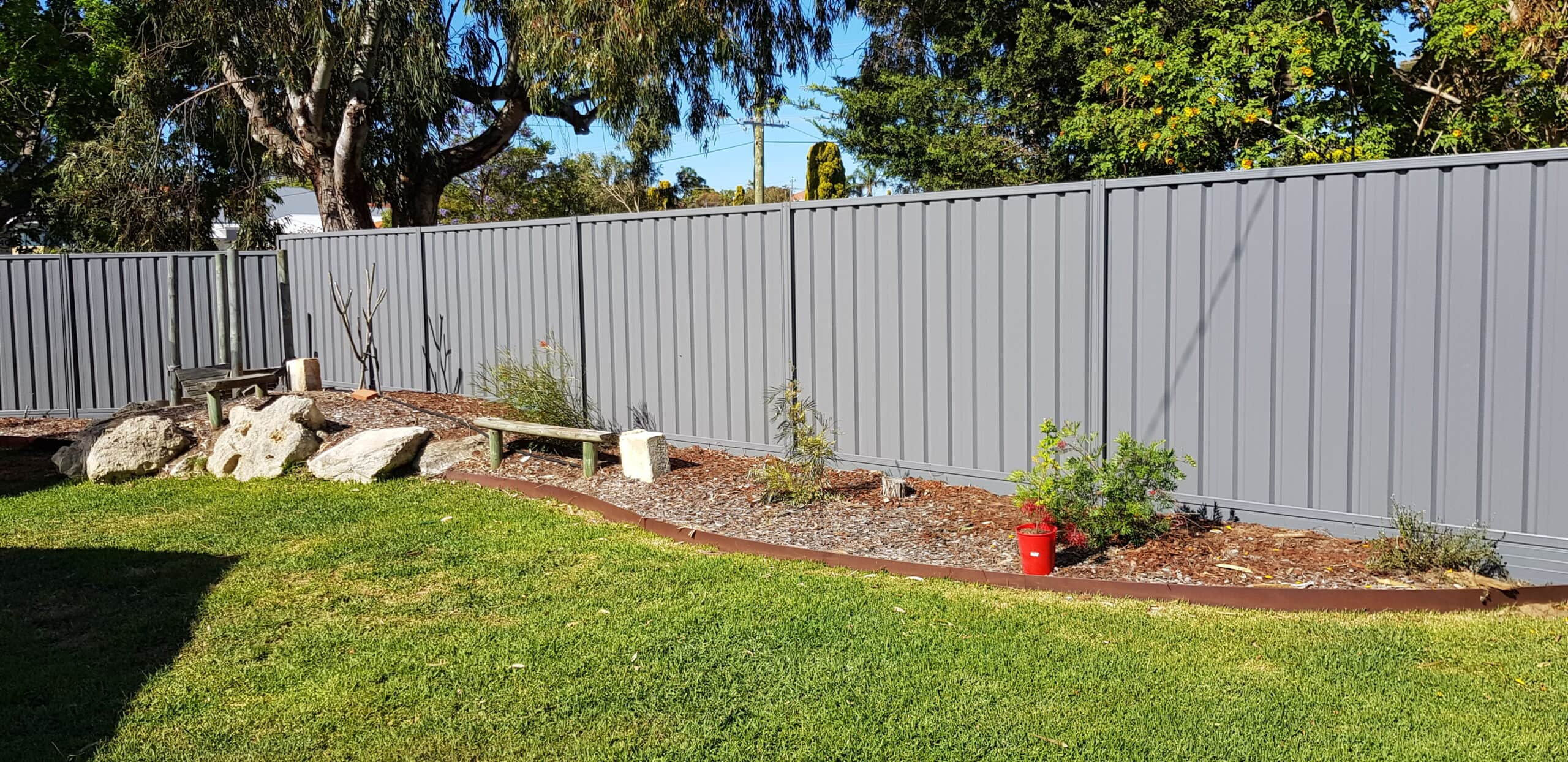 colorbond fencing grey