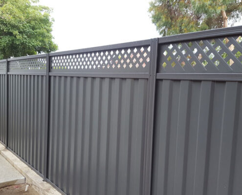 Grey Colorbond Fence